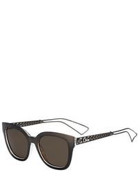 Christian Dior Dior Diorama Caged Monochromatic Sunglasses Grey Crystal