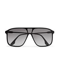 Victoria Beckham D Frame Acetate And Silver Tone Sunglasses