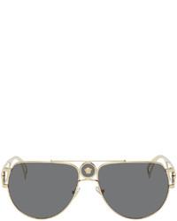Versace Gold Medusa Pilot Sunglasses