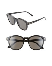 Tom Ford Jameson 52mm Polarized Round Sunglasses