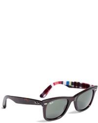 Brooks Brothers Ray Ban Wayfarer Sunglasses With Madras