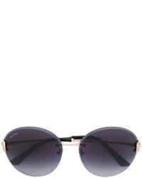 Bulgari Round Frame Sunglasses