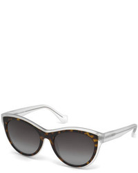 Balenciaga Translucent Cat Eye Sunglasses Havanacrystal