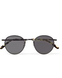 Garrett Leight California Optical Wilson M 49 Round Frame Metal And Tortoiseshell Acetate Sunglasses