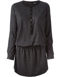 Burberry Brit Button Fastening Elasticated Waist Sweatshirt Dress