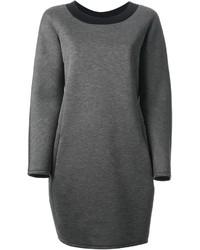 Jil Sander Navy Bi Colour Sweatshirt Dress