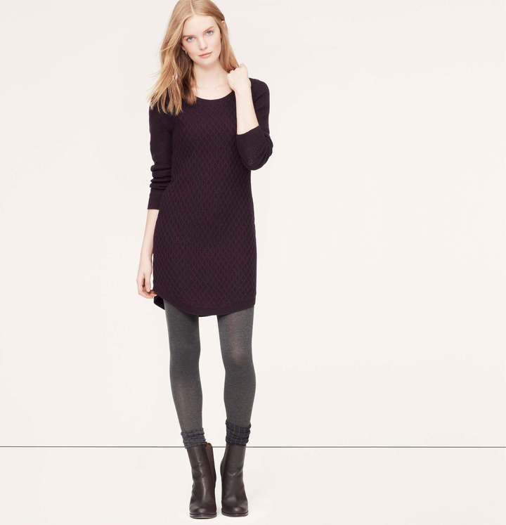 b4600c84f8 LOFT Petite Cable Sweater Dress
