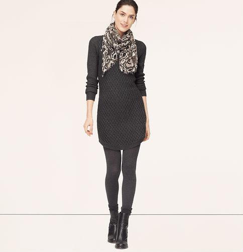 3f06c5c1a1 ... LOFT Petite Cable Sweater Dress ...