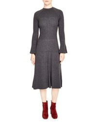 Ribbed midi sweater dress medium 5259971