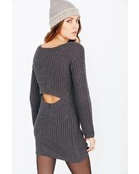 Silence & Noise Silence Noise Surplice Back Sweater Dress