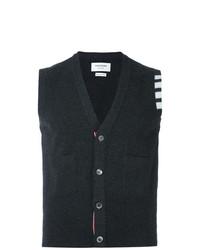 Thom Browne V Neck Cardigan Vest In Cashmere