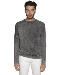 Diesel Acid Washed Effect Cotton Sweatshirt