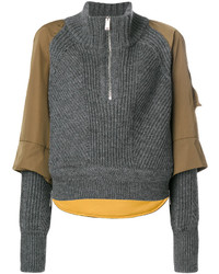 Dsquared2 Panelled Zip Front Jumper