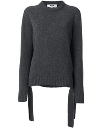 MSGM Ribbed Round Neck Sweater