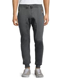 American Stitch Elephant Printed Panel Jogger Pants Dark Gray