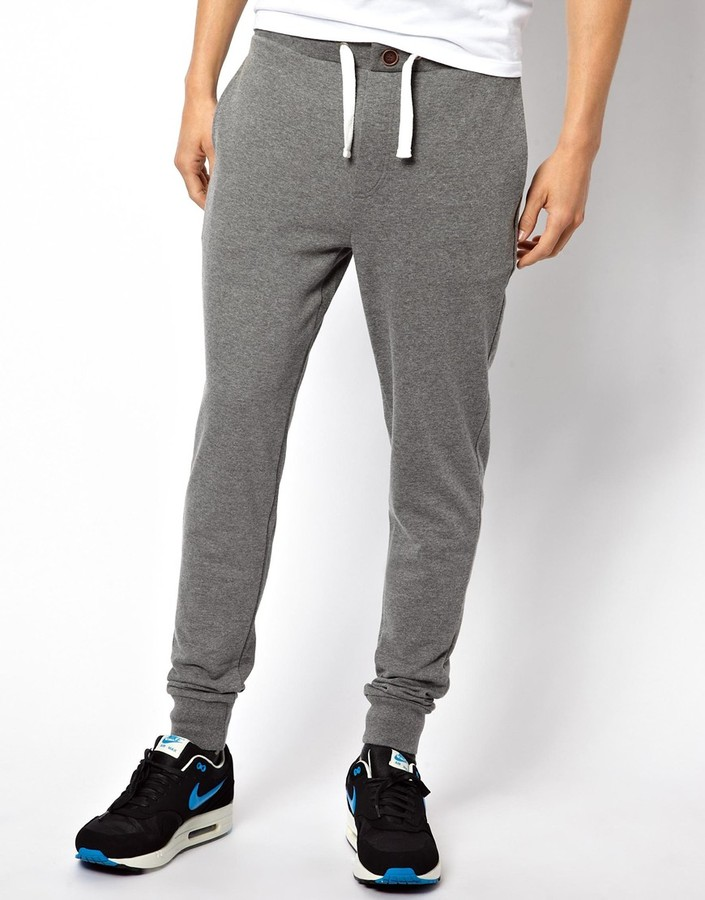 ... Asos Skinny Sweatpants With Zip Fly And Button Detail Charcoal