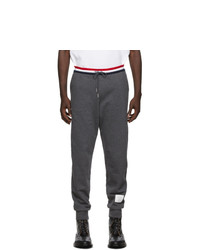 Thom Browne Grey French Terry Stripe Lounge Pants
