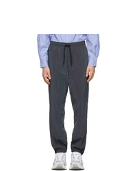 MSGM Grey Iridescent Jogger Track Pants