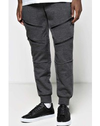 Boohoo Jogger With Black Zips