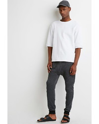 Forever 21 Speckled Drop Crotch Sweatpants