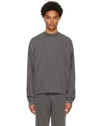 John Elliott Black Cross Thermal Sweatshirt