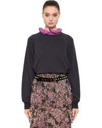 Cotton linen blend sweatshirt medium 4418001