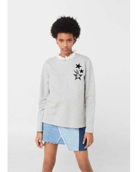 Mango Embroidered Cotton Sweatshirt
