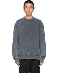 Han Kjobenhavn Grey Faded Distressed Sweatshirt