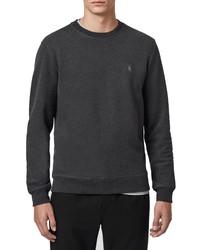 AllSaints Raven Slim Fit Crewneck Sweatshirt
