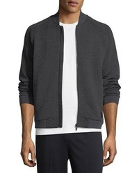 Z Zegna Techmerino Techmerino Matelasse Zip Sweatshirt