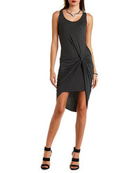 Charlotte Russe Knotted Asymmetrical Bodycon Dress