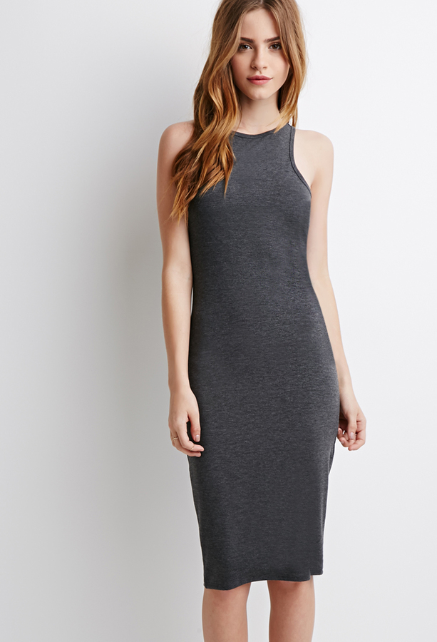 Forever 21 Classic Stretch Knit Midi Dress Where To Buy How To Wear