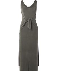 Vince Tie Front Modal Blend Jersey Midi Dress