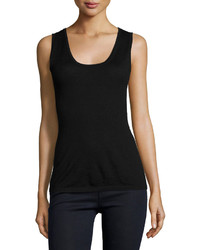 Neiman Marcus Cashmere Collection Cashmere Modern Scoop Neck Tank