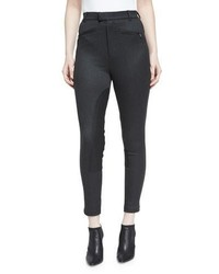 Cropped high rise riding pants charcoal medium 1158219