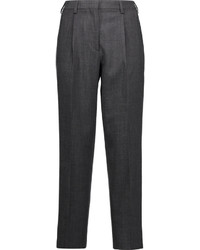 Pleated stretch wool tapered pants medium 1158204
