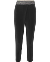 Stretch silk tapered pants medium 1158206