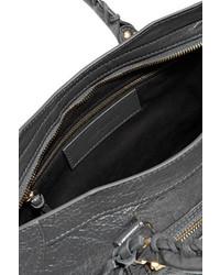 3f288e262bac3 ... Balenciaga Classic City Small Textured Leather Tote Dark Gray