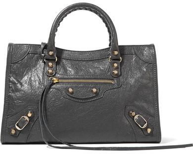 073a62f0a59e8 ... Balenciaga Classic City Small Textured Leather Tote Dark Gray ...