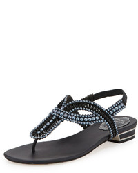 Charcoal Thong Sandals