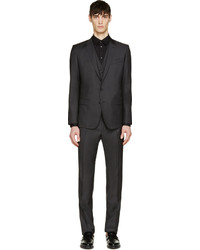 Dolce & Gabbana Grey Martini Three Piece Suit