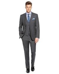 Hugo Boss Hugegenius Slim Fit Virgin Wool Blend Stripe 3 Piece Suit