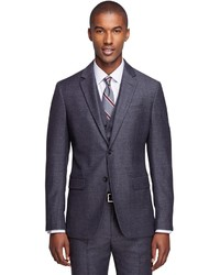 Brooks Brothers Milano Fit Three Piece Houndstooth 1818 Suit