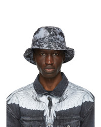 Marcelo Burlon County of Milan Grey And Black Er Black Label Edition Cross Bucket Hat