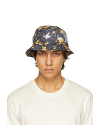 McQ Grey And Yellow Bucket Hat