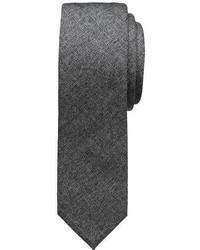 Banana Republic Charcoal Flannel Tie