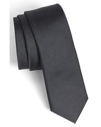 Calibrate Woven Silk Tie Charcoal Regular