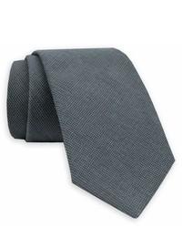 Gitman Solid Woven Wool Silk Tie
