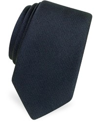 Solid twill silk narrow tie medium 135639