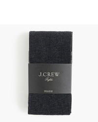 J.Crew Ribbed Tights In Heather Charcoal